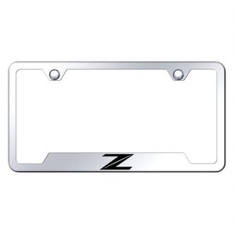 Autogold® - Chrome License Plate Frame with Laser Etched Z New Logo and Cut-Outs