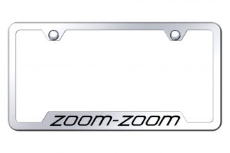 Autogold® - License Plate Frame with Laser Etched Zoom-Zoom Logo and Cut-Out