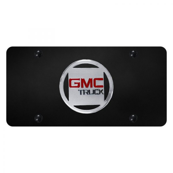 Autogold® - License Plate with 3D GMC Truck Emblem