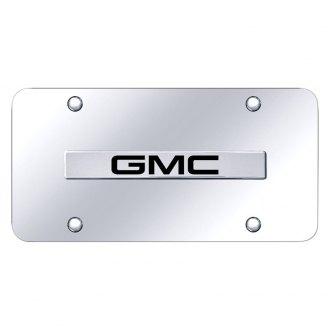Autogold® - Chrome License Plate with Chrome GMC Logo
