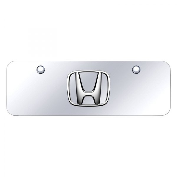 Autogold® - Mini Size License Plate with 3D Honda Emblem