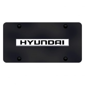 Autogold® - License Plate with 3D Chrome Hyundai Logo