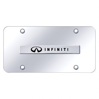 Autogold® - License Plate with 3D Chrome Infiniti Logo and Emblem