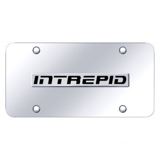 Autogold® - Chrome License Plate with Intrepid Logo