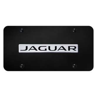 Autogold® - License Plate with 3D Jaguar Logo