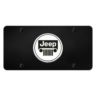 Autogold® - License Plate with 3D Jeep Emblem