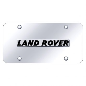 Autogold® - Chrome License Plate with 3D Land Rover Logo