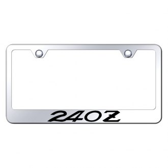 Autogold® - Chrome License Plate Frame with Laser Etched 240Z Logo