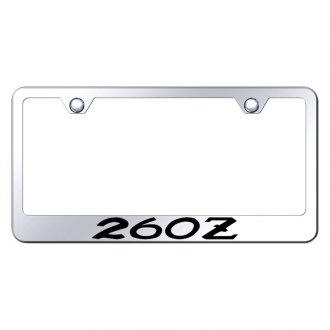 Autogold® - Chrome License Plate Frame with Laser Etched 260Z Logo