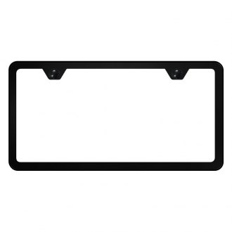 Autogold® - Slimline Plain 2-Hole License Plate Frame