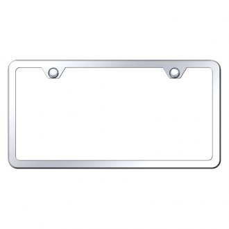 Autogold® - Slimline Plain 2-Hole Polished License Plate Frame