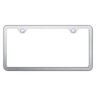 Autogold® - Slimline Plain 2-Hole Brushed License Plate Frame