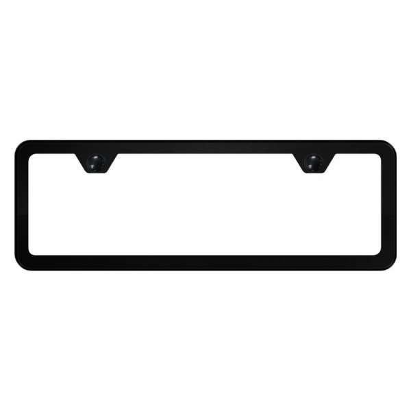 Autogold® - Slimline Plain 2-Hole Mini Size License Plate Frame