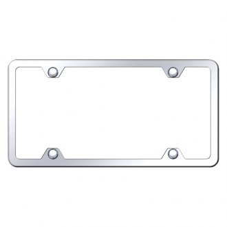 Autogold® - Slimline Plain 4-Hole Chrome License Plate Frame
