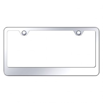 Autogold® - 2-Hole Bottom Chrome License Plate Frame