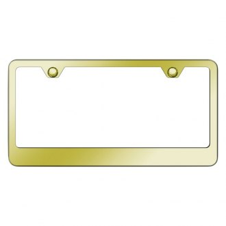 Autogold® - 2-Hole Bottom Gold License Plate Frame