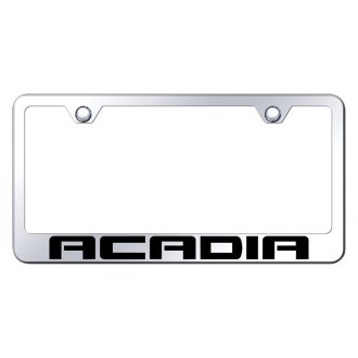 Autogold® - Chrome License Plate Frame with Laser Etched Acadia Logo