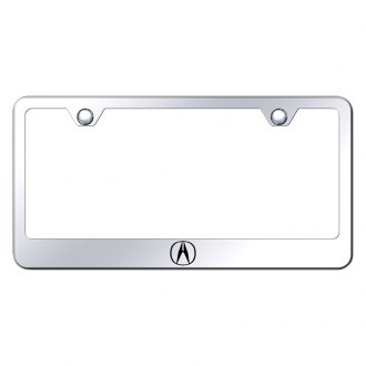 Autogold® - Chrome License Plate Frame with Laser Etched Acura Only Logo