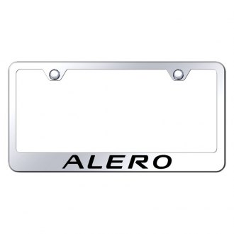 Autogold® - Chrome License Plate Frame with Laser Etched Alero Logo
