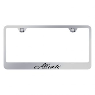 Autogold® - Chrome License Plate Frame with Laser Etched Allante Logo