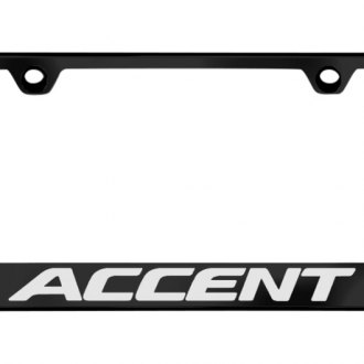 Autogold® - License Plate Frame with Laser Etched Accent Logo