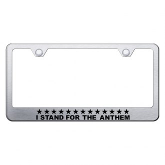 Autogold® - License Plate Frame with Laser Etched I Stand For The Anthem Logo