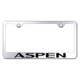 Autogold® - Chrome License Plate Frame with Laser Etched Aspen Logo