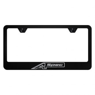Autogold® - License Plate Frame with Laser Etched A Spec Logo