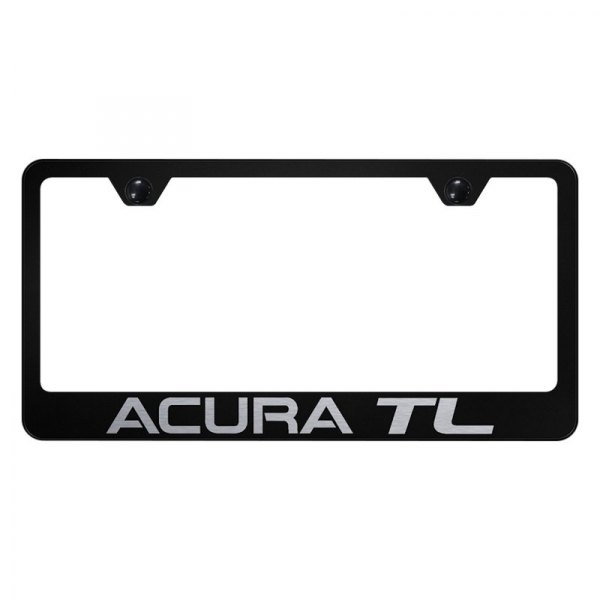 Black License Plate Frame With Laser