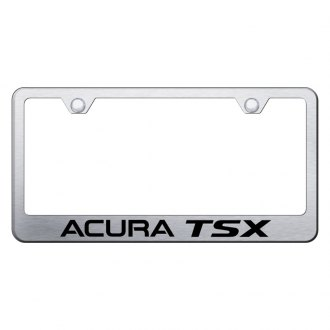 Autogold® - Brushed License Plate Frame with Laser Etched Acura TSX Logo