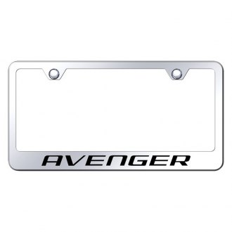 Autogold® - Chrome License Plate Frame with Laser Etched Avenger Logo