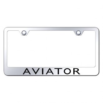 Autogold® - License Plate Frame with Laser Etched Aviator Logo