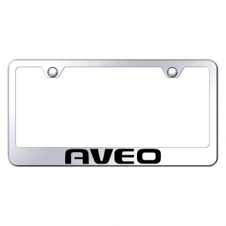 Autogold® - Chrome License Plate Frame with Laser Etched Aveo Logo