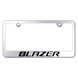 Autogold® - License Plate Frame with Laser Etched Blazer Logo