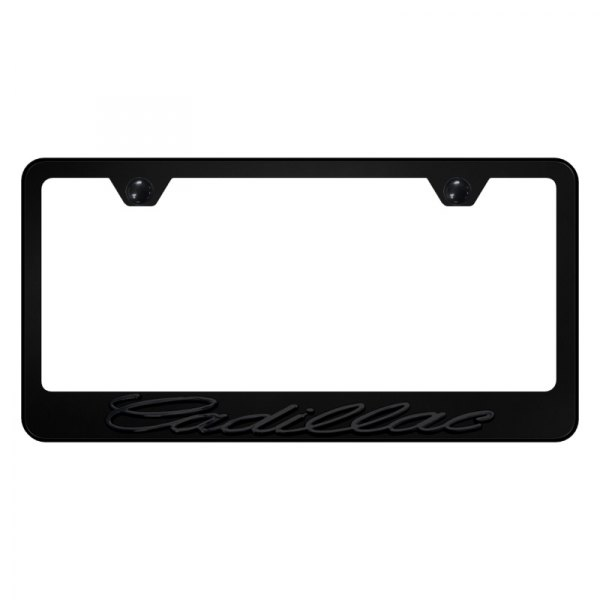 Autogold® - License Plate Frame with 3D Cadillac Logo
