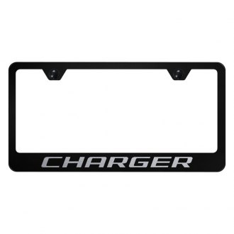 Autogold® - License Plate Frame with Laser Etched Charger Logo