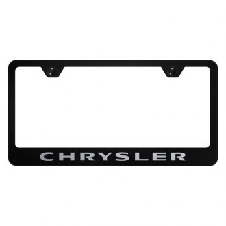 Autogold® - License Plate Frame with Laser Etched Chrysler Logo