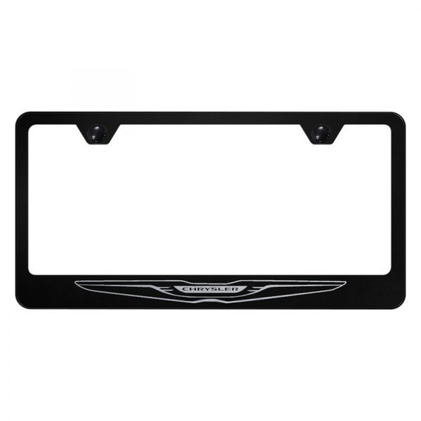 Autogold® - License Plate Frame with Laser Etched Chrysler Only Logo