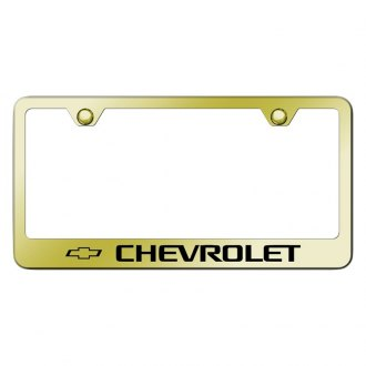 Autogold® - Gold License Plate Frame with Laser Etched Chevrolet Logo