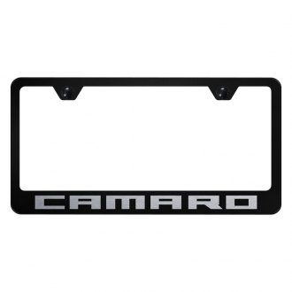 Autogold® - License Plate Frame with Laser Etched Camaro Logo
