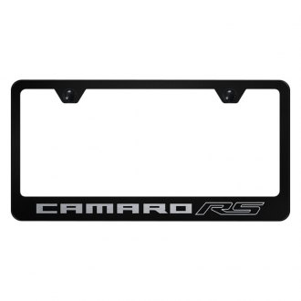 Autogold® - License Plate Frame with Laser Etched Camaro RS Logo