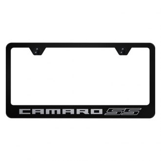 Autogold® - License Plate Frame with Laser Etched Camaro SS Logo