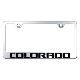 Autogold® - Chrome License Plate Frame with Laser Etched Colorado Logo