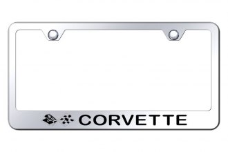 Autogold® - License Plate Frame with Laser Etched Corvette C3 Logo