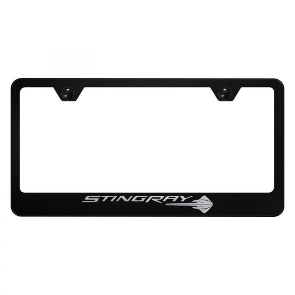 Autogold® - License Plate Frame with Laser Etched Corvette C7 Stingray Logo