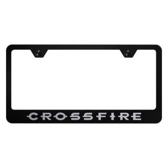 Autogold® - License Plate Frame with Laser Etched Crossfire Logo