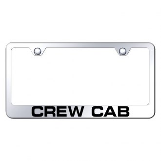 Autogold® - Chrome License Plate Frame with Laser Etched Crew Cab Logo