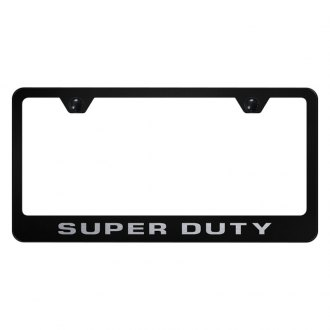 Autogold® - License Plate Frame with Laser Etched Super Duty Logo