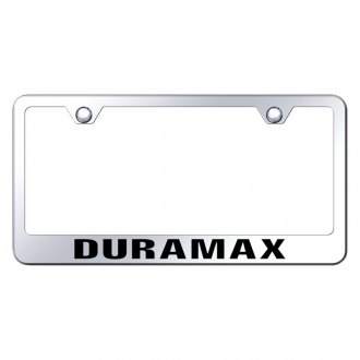 Autogold® - Chrome License Plate Frame with Laser Etched Duramax Logo