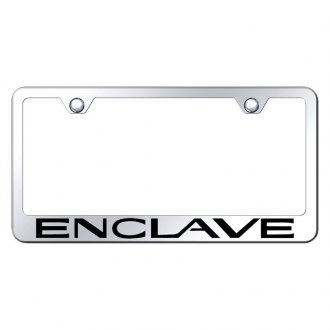 Autogold® - Chrome License Plate Frame with Laser Etched Enclave Logo